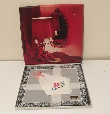 Vintage Ladies Hankerchief in box UNUSED -  Made in Ireland