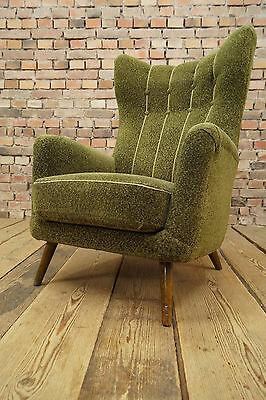 60er sessel danish easy chair clubsessel vintage retro for Ohrensessel 50er 60er
