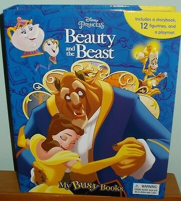 Disney Beauty and the Beast Busy Book -12 Figurines and Playmat