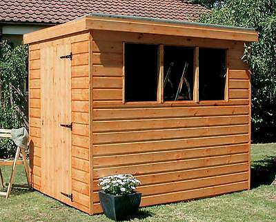 Pent Garden Shed - Heavy Duty Tongue & Groove Wood