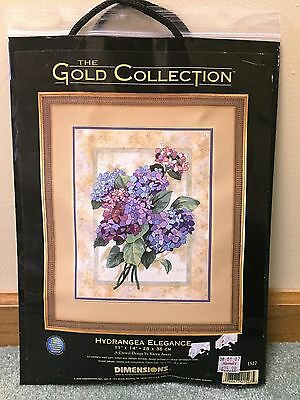 New Dimensions Gold Collection Crewel Kit Hydrangea Elegance 1527 2000 11x14