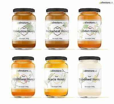 Pure RAW Natural HONEY Unfiltered Unpasteurised Unprocessed 1kg 1000g