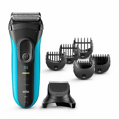 Braun Series 3 3010BT 3-in-1 Electric Cordless Wet and Dry Shaver for Men