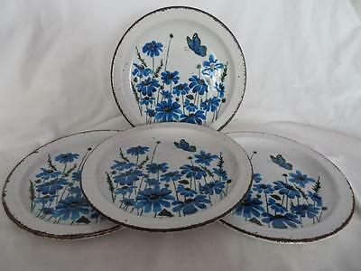 "4 x ICONIC 1970s MIDWINTER STONEHENGE SPRING 8.75"" SALAD/DESSERT PLATES V.G.COND"