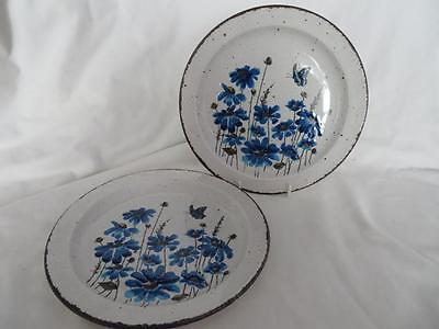 "2 x ICONIC 1970s MIDWINTER STONEHENGE SPRING 8"" SIDE/SALAD PLATES V.G.COND"