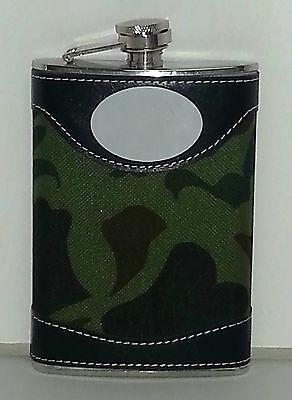 Flask Camouflage Army Stainless Steel 9 oz