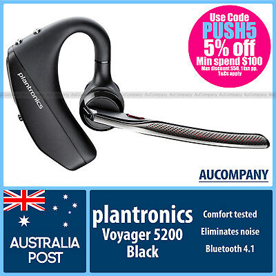 Plantronics Voyager 5200 Bluetooth 4.1 Mobile Headset for iPhone Samsung HTC