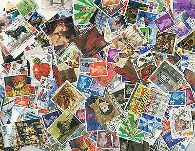 99p lot - 400 kiloware all GB stamps off paper -
