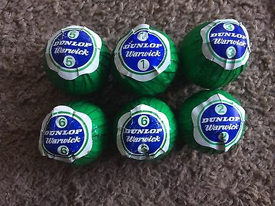Vintage Dunlop Warwick Golf Balls 6 Green Wrapper
