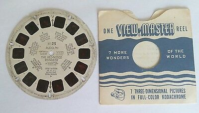 Vintage Sawyer's View-Master # FT 25 Rudolph The Red Nosed Reinder