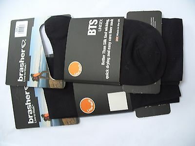 2 X PAIRS Brasher BTS Liner socks size 5.5-7.5 only £5.99 NEW WALKING HIKING