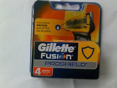"""Gillette """"fusion Proshield"""" Replacement Cartridge Blades. Pack Of 4."""