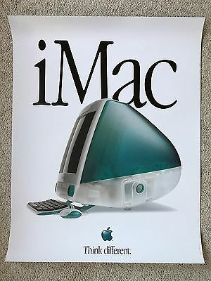 "Excellent Condition POSTER  ""The First iMac"" - ORIGINAL 1998 from Apple Computer"