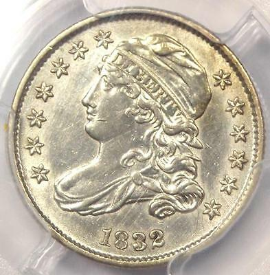 1832 Capped Bust Dime 10C - PCGS AU Detail - Rare Early Date Certified Coin!