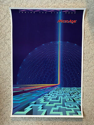 """Very Cool MicroAge """"Taking The High Road Poster"""" 30"""" x 20"""" - excellent condition"""