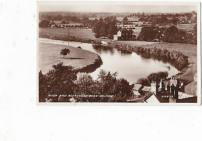 RP River and Boathouse, Ross on Wye. p/m 1940.