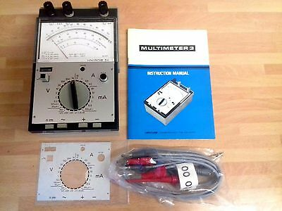 Venture Unigor 3N Multimeter Model 3 Rare Unused New Old & Leads, Instructions