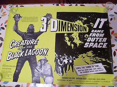 Creature From The Black Lagoon/it Came From Outer Space, Uk Quad Poster 30 X 40