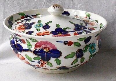 Early C19Th Coalport Hand Painted Pot And Cover In The Finger Pattern