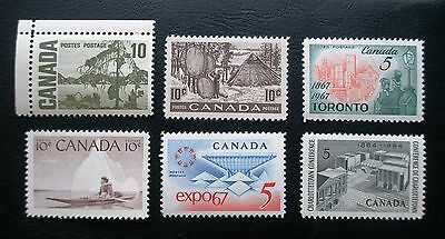 (H052) Canada selected 5c and 10c stamps MNH OG
