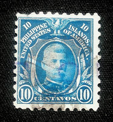 (H111) Philippines American Occupation 1914 Scott 280 used hinged NG