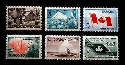 (H045) Canada selected 5c and 10c stamps MNH OG