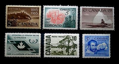 (H030) Canada selected 5c and 10c stamps MNH OG