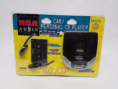 RCA RP2215 Portable Car Personal CD Player 10 Second ESP Bass Boost NEW SEALED