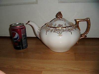 Large Royal Crown Derby Vine Teapot ~ White ~ 1st Quality ~ Slightly A/F ~ RARE