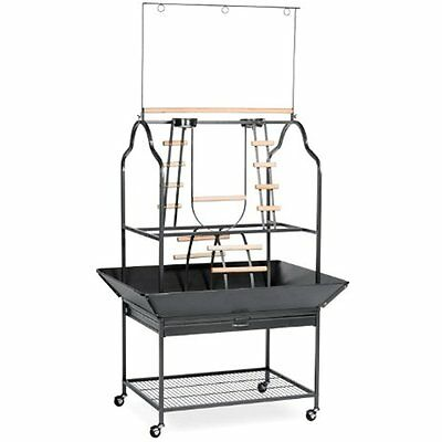 3180 Pet Products Parrot Playstand, Black Hammertone New