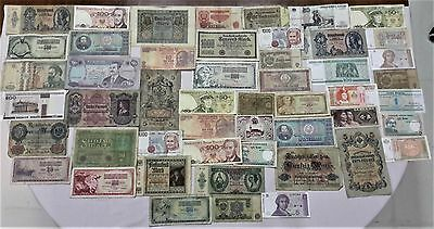 World Banknote collection. 50 Mixed. Many Old. All my collections Different #47