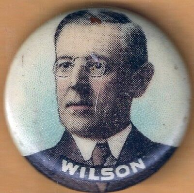 President Woodrow Wilson Campaign Button with Whitehead & Hoag Back Paper