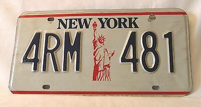 Genuine NEW YORK Licence Plate - Very Good Condition - UK Seller