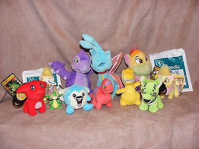 Neopets Lot--13 pcs. plush and two plastic figures