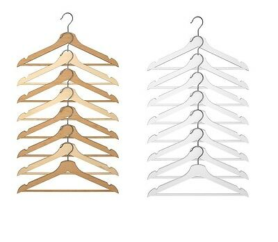IKEA Bumerang Wooden Adult Clothes Hangers Wood Trouse/Coat/Suit Hanger NEW