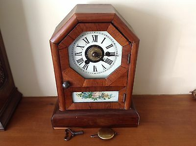 Antique Seth Thomas-Country Cottage Mantel Clock-American-1885-Fully Working.