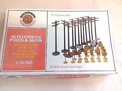 Bachmann Plasticville 12 Telephone Poles And 24 Street Signs 0 Scale New Old