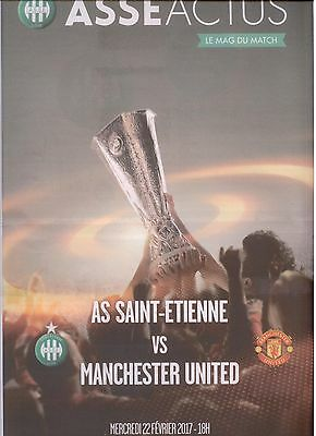 SAINT-ETIENNE v MANCHESTER UNITED (OFFICIAL PROG) (EUROPA LEAGUE) 2016/17