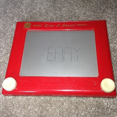 MAGIC ETCH A SKETCH SCREEN by Mattel Toys 2004 Vintage Retro Drawing Toy
