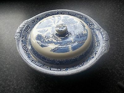 Rare Vintage W.R. Midwinter WILLOW Lidded Serving Dish Tureen