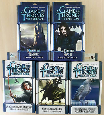 A Game of Thrones 5 LCG/CCG trading cards Expansion Packs New and Sealed