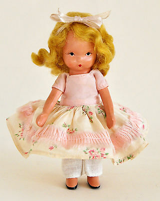 NANCY ANN STORYBOOK DOLL WHEN SHE WAS GOOD #132 VINTAGE 1940s BEAUTIFUL BISQUE