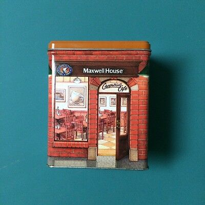 Maxwell House Cappuccino Cafe Tin Collectible Canister