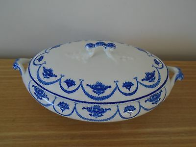 Antique/Vintage John Maddock & Sons Royal Vitreous Lidded Tureen - Vera Pattern