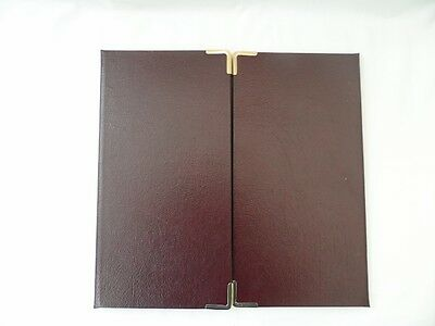 1 SPICER HALLFIELD Winged Portfolio Complete with Overlays, 1 Burgundy