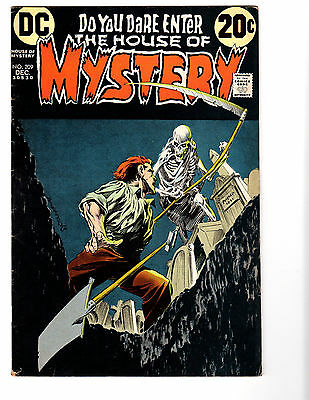 House of Mystery #209 (12/72) FN- (5.5) Wrightson! Great Bronze Age Horror!