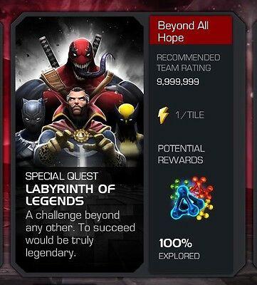Marvel Contest of Champions (Labyrinth Of Legends 100%)