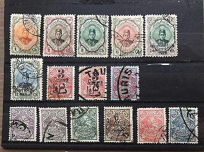 Early Persia 1902-10 stamps, Used & Overprints, Arms Of Persia,Ahmad Shah Qajar