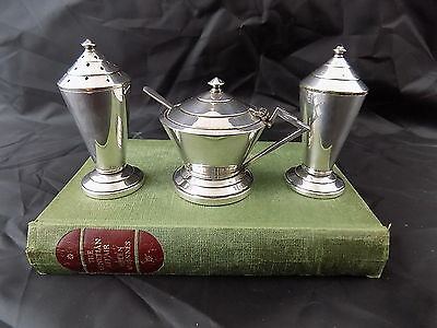 Sybil - Vintage Deco Style Silver Plated Condiment Set