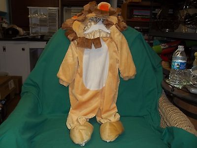 Plush Lion Halloween Costume Baby Infant Toddler Halloween 12-24 Months Used 1x